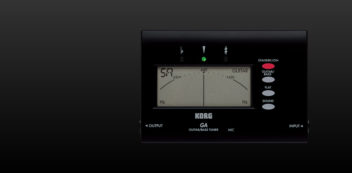 ga 1 guitar bass korg tuner instructions