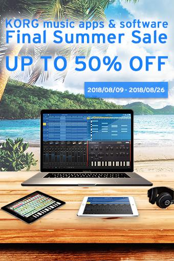 KORG music app & software - Final Summer Sale