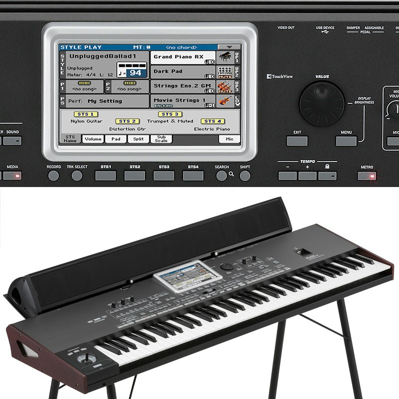 Korg Pa3X LE Controls and Speaker Bar