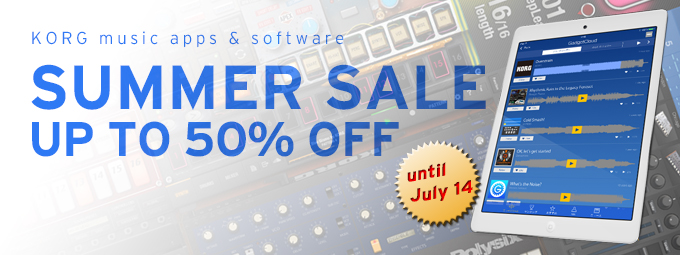 KORG music apps SUMMER SALE
