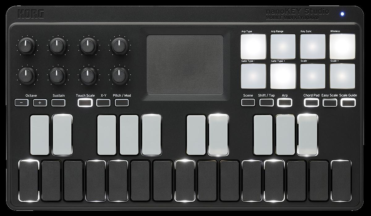 Nanokey Studio Mobile Midi Keyboard Korg Usa