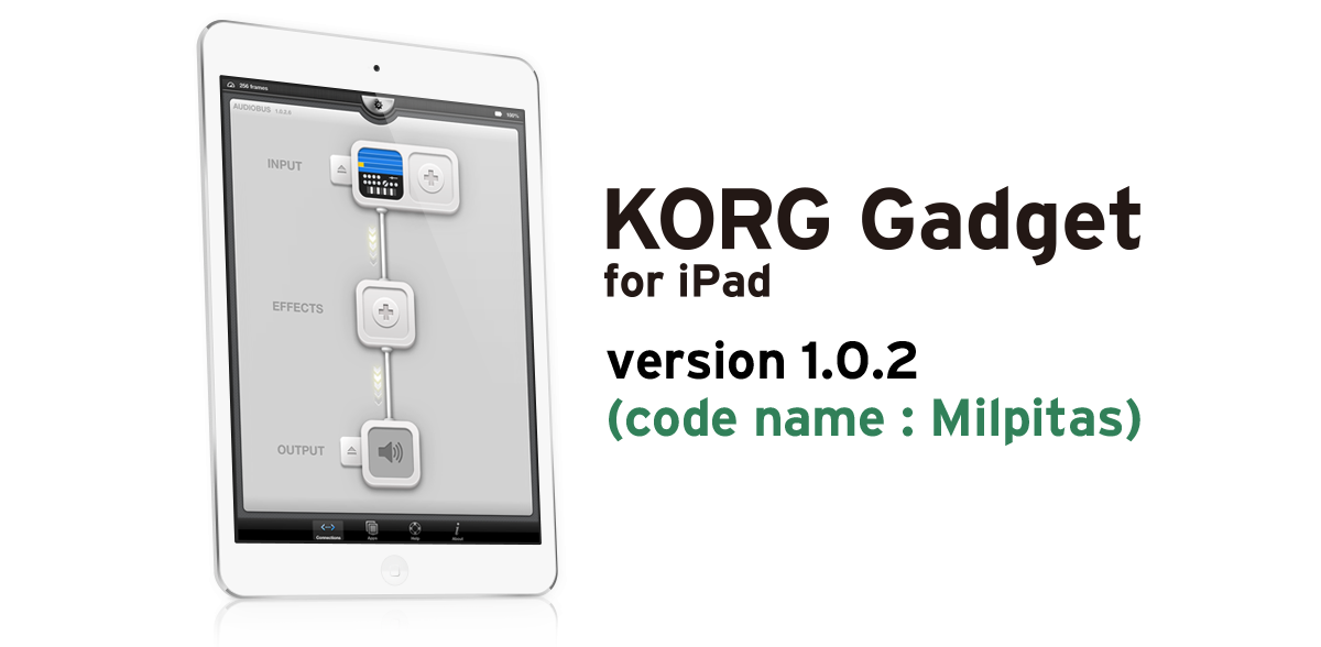 KORG Gadget for iPad version 1.0.2 (code name : Milpitas