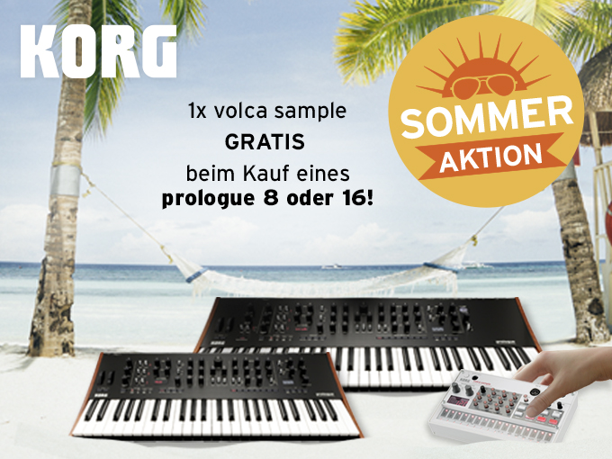 korg, prologue, sommeraktion, volca sample, gratis