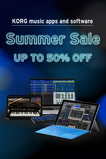 KORG music apps & software : Summer Sale