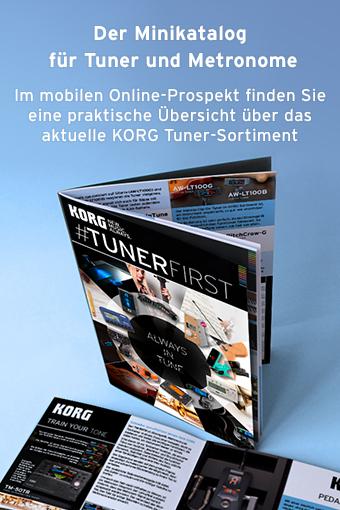 korg, tuner, #tunerfirst, tuner spezial, prospekt
