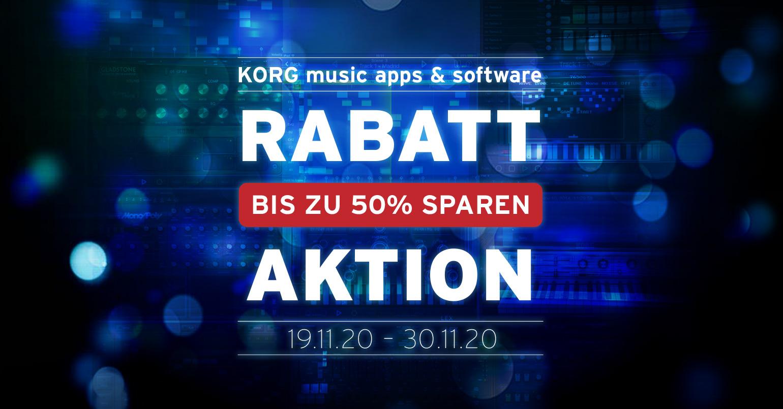 RABATT AKTION: KORG music apps & softwareris zu 50% Sparen!