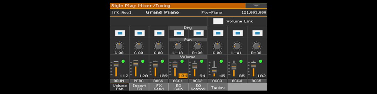 Mixer - Volume Pan