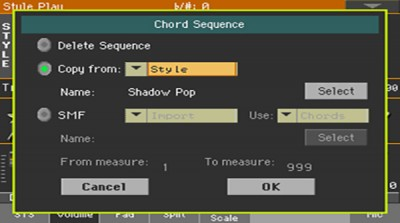 Chord Sequence Edit