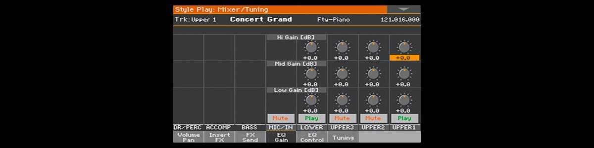 Mixer - EQ