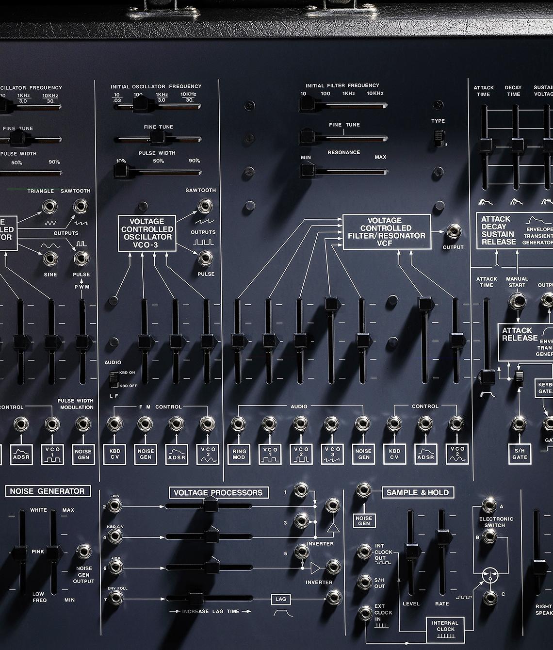 2600 VCF Filterbereich mit Umschalter