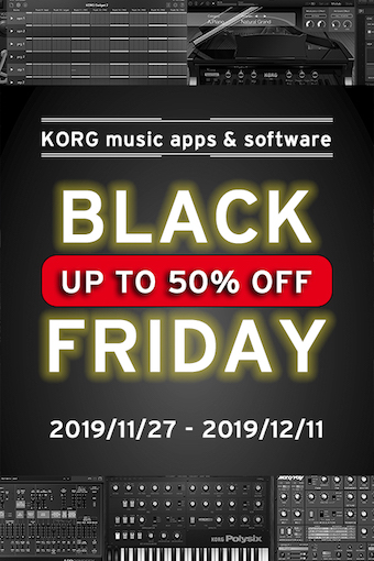 KORG apps & software Black Friday Sale