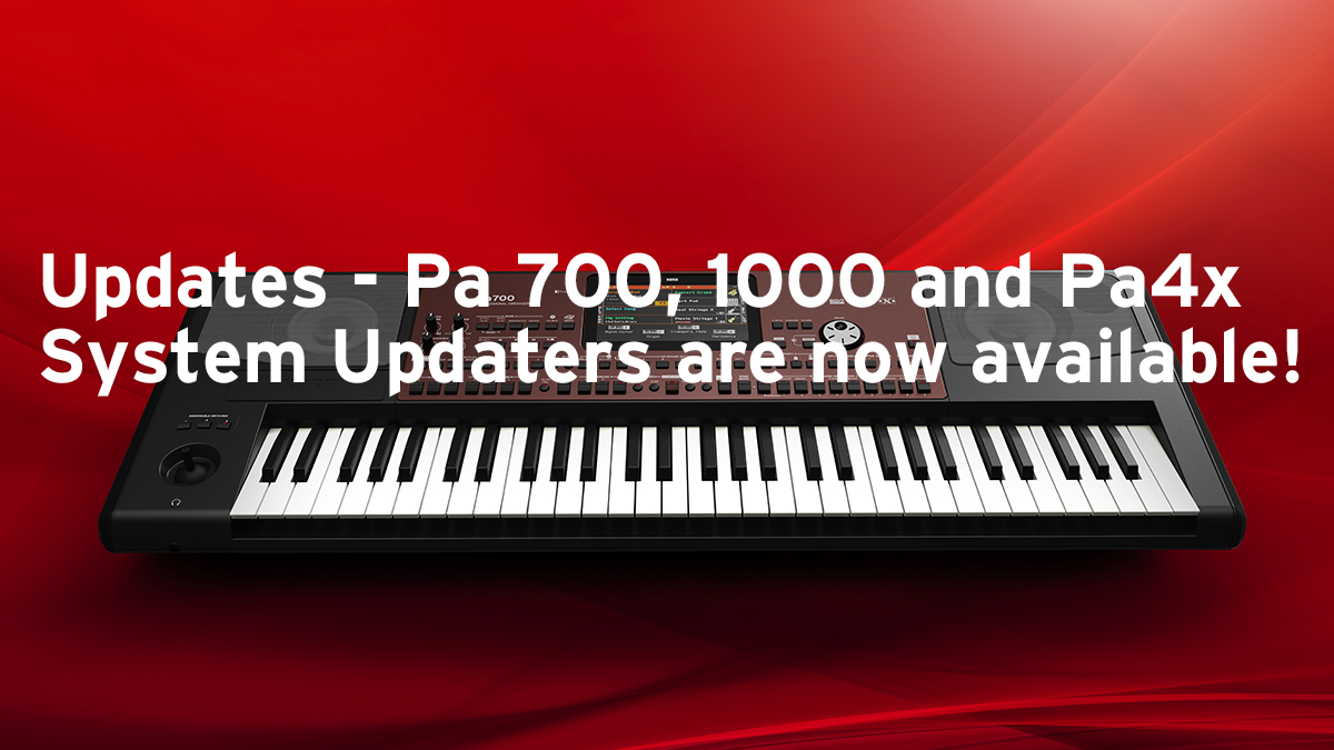 News | Updates - Pa700, 1000 and Pa4x System Updaters are now