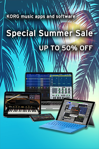 KORG music apps & software: Special Summer Sale
