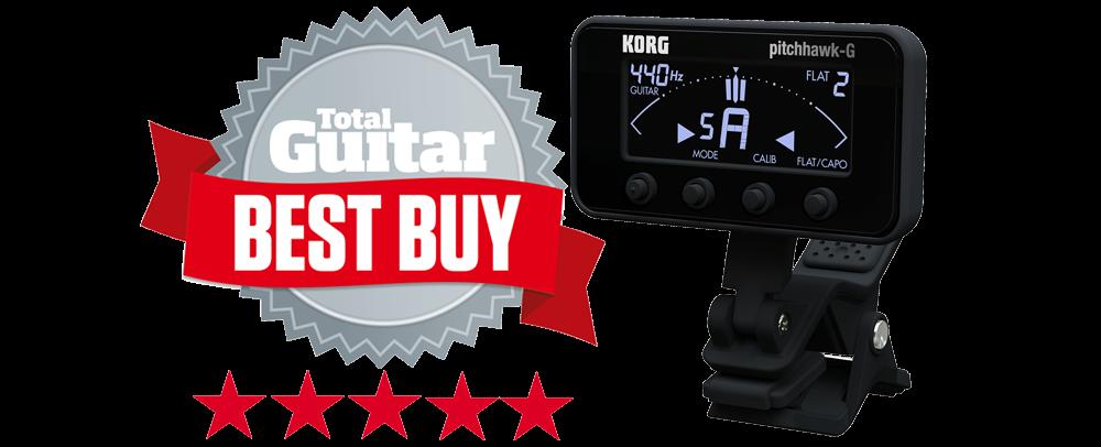 Total Guitar Magazine's Best Buy Award for the KORG PitchHawk-G