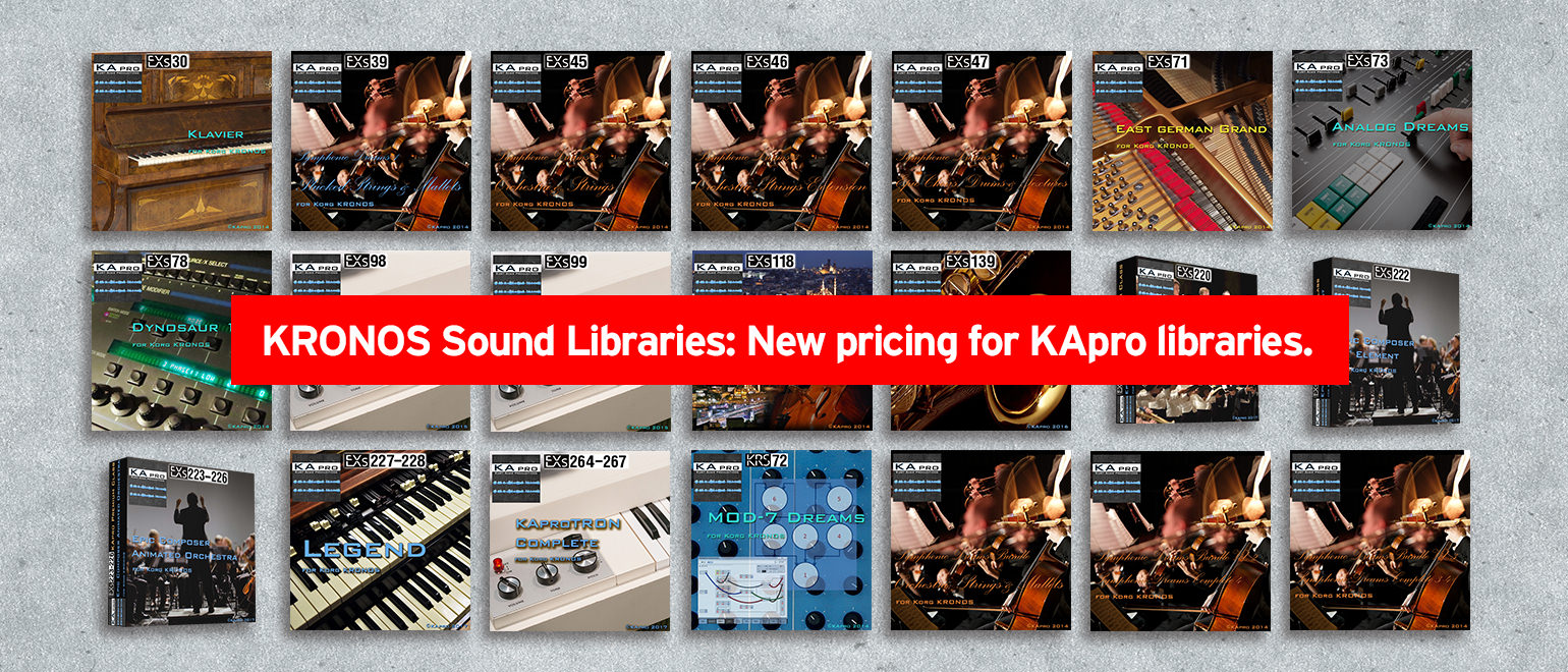 News | KRONOS Sound Libraries: New pricing for KApro libraries