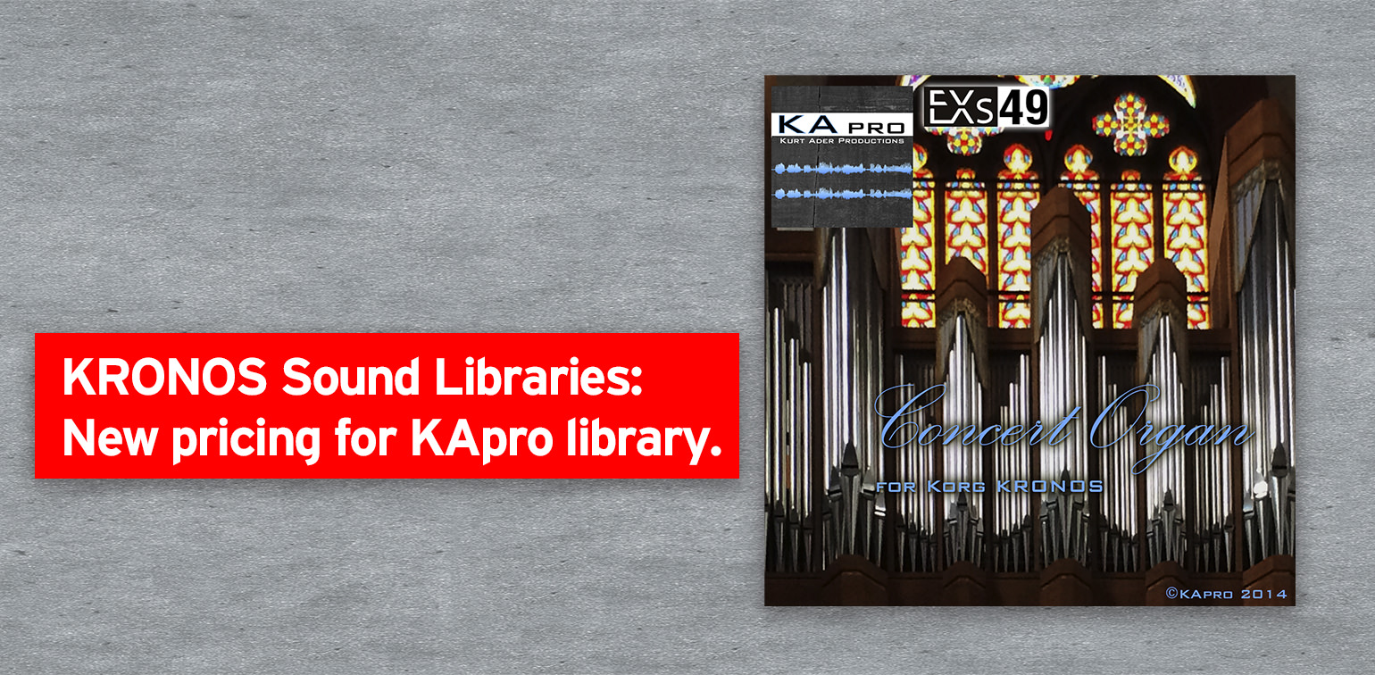 News | KRONOS Sound Libraries: New pricing for KApro library  | KORG