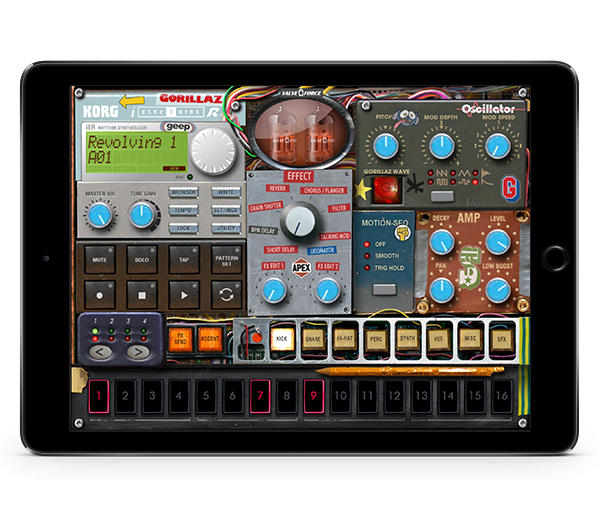KORG iELECTRIBE Gorillaz Edition for iPad