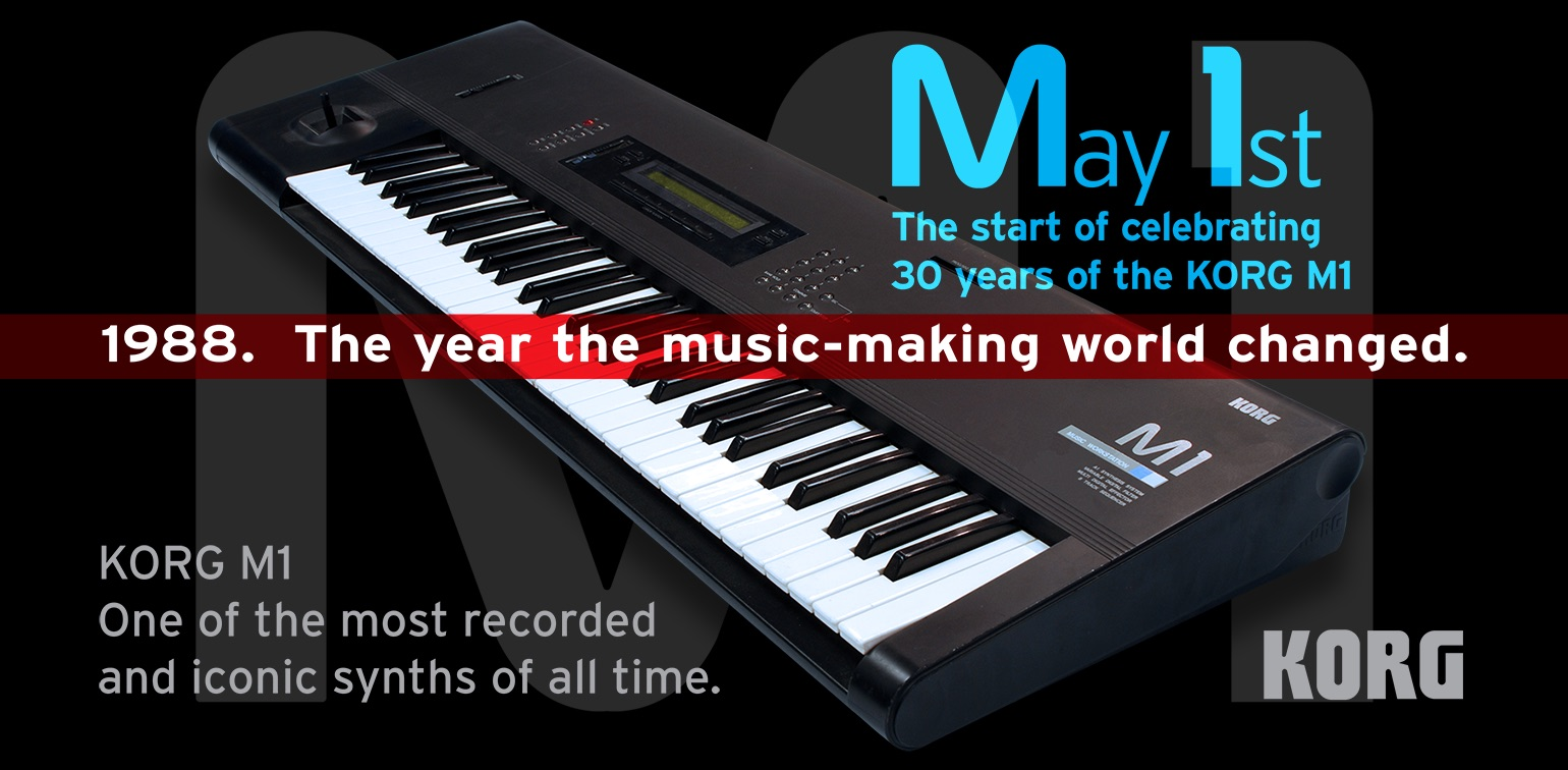 news m1 day music workstation synthesizer m1 30th anniversary limited time sale of. Black Bedroom Furniture Sets. Home Design Ideas