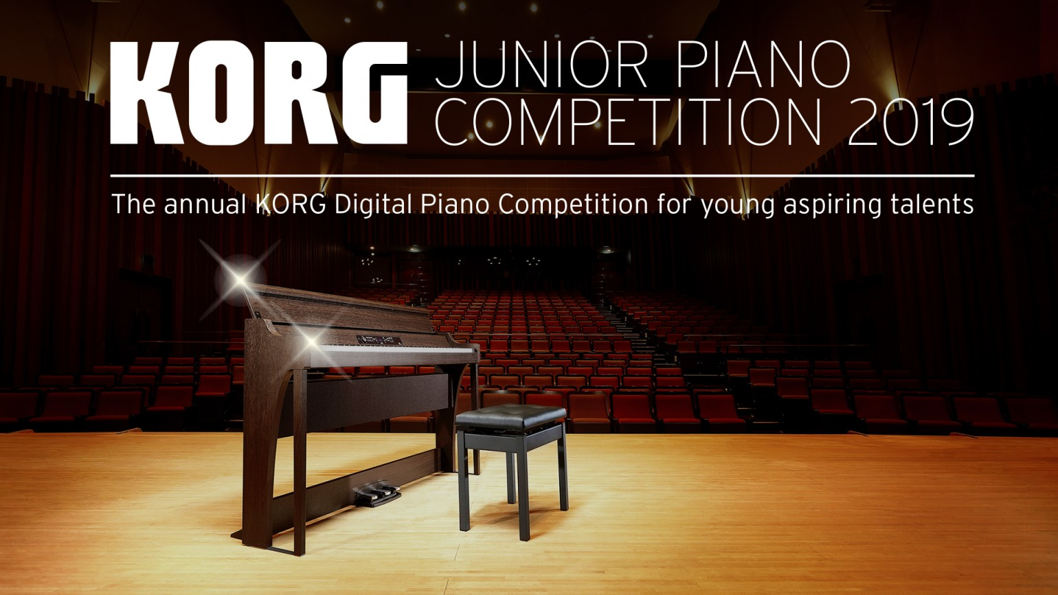 Korg Junior Piano Competition 2019 Banner