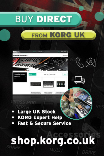 Buy direct from KORG UK at shop.korg.co.uk