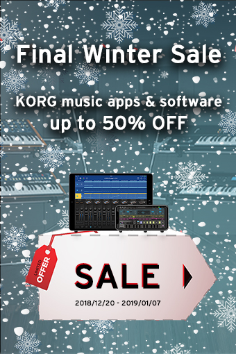 KORG music apps & software: Final Winter Sale - up to 50% OFF!
