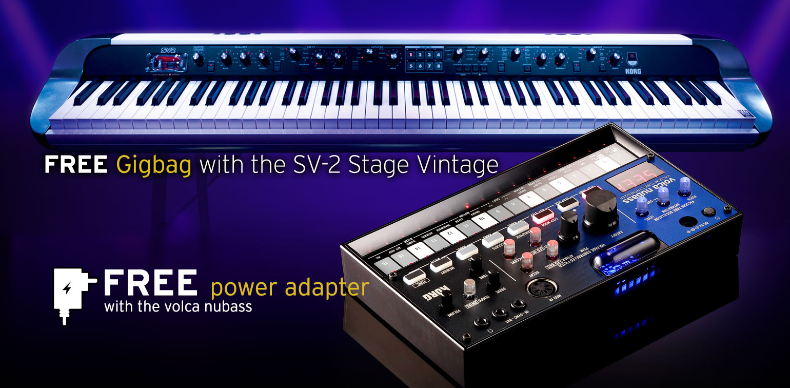 FREE Gifts with Selected KORG Products during May & June 2021