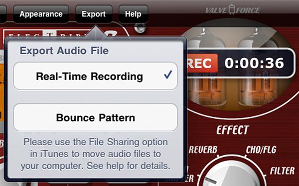 Audio Export