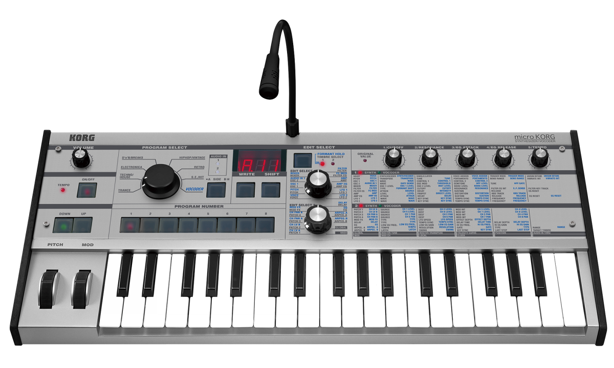 microkorg synthesizer vocoder korg u k. Black Bedroom Furniture Sets. Home Design Ideas