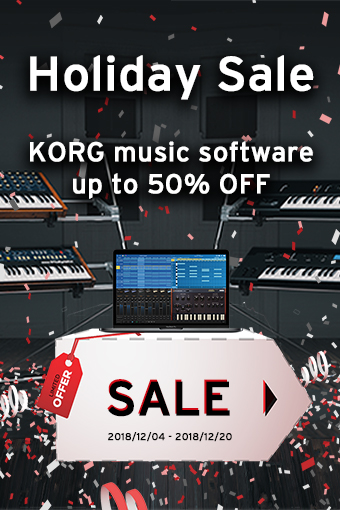 KORG music software: Holiday Sale - up to 50% OFF!