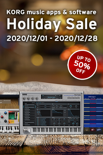 Holiday Sale: KORG music apps & software up to 50% OFF Sale!