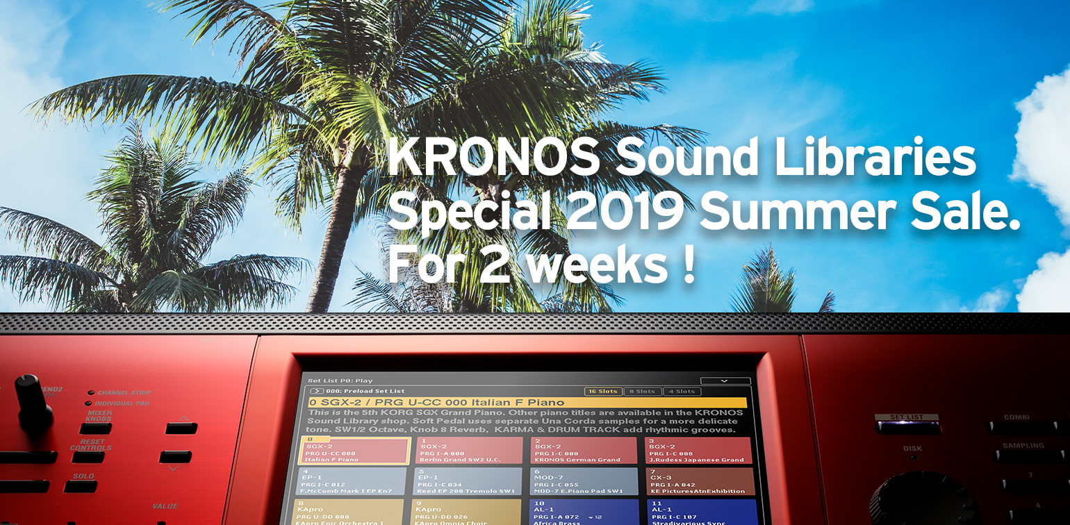 News | KRONOS Sound Libraries - Special 2019 Summer Sale  For 2