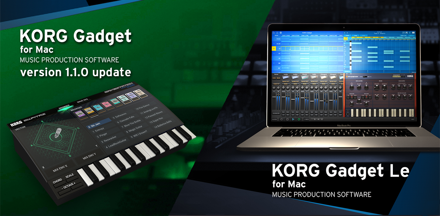 News | KORG Gadget for Mac version 1 1 0 has been released! A free