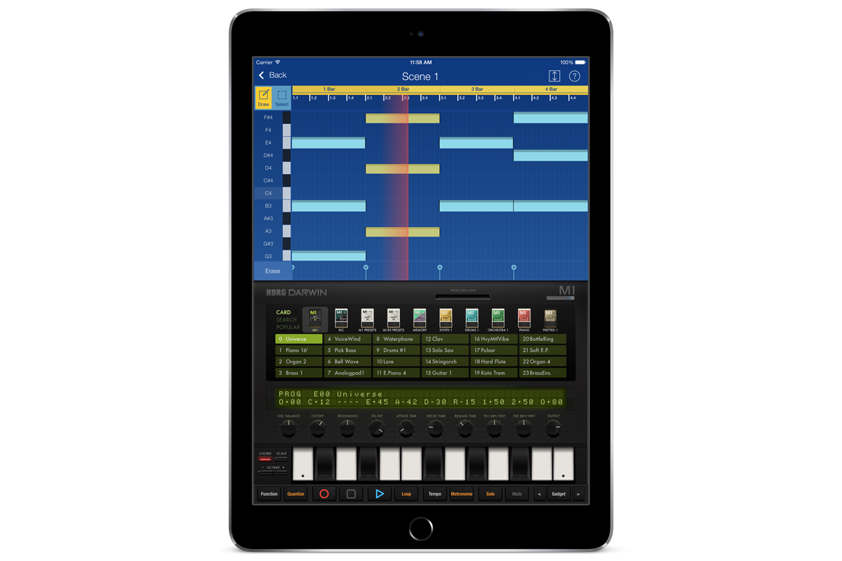 Korg Im1 For Ipad Mobile Music Workstation Usa Download Image Voice Activated Circuit Pc Android Iphone And