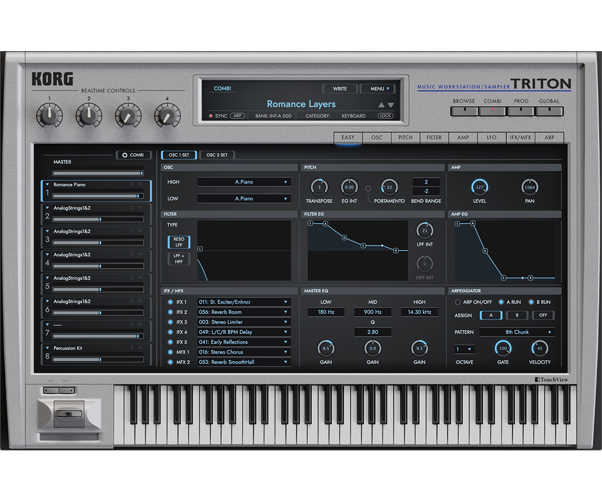 KORG Software TRITON Extreme 1.0.1 Mac 破解版 雄霸舞台键盘手乐池的蓝战士