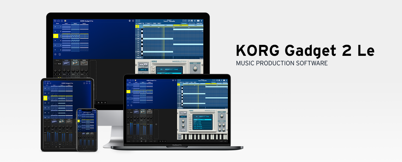 KORG Gadget 2 - MUSIC PRODUCTION SOFTWARE | KORG (USA)