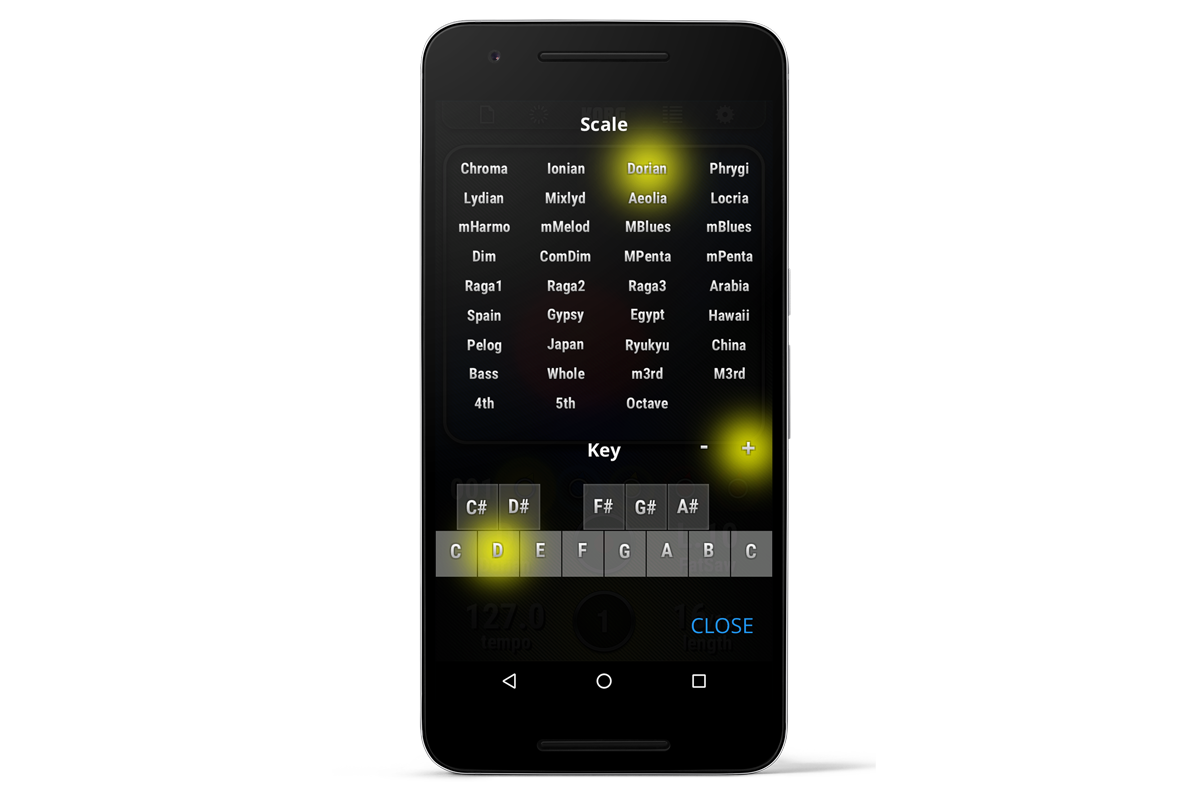 korg kaossilator for android dynamic phrase synthesizer korg (usa)korg kaossilator for android