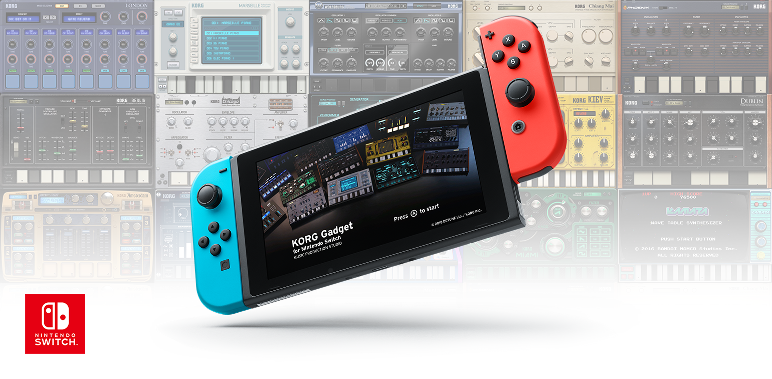 korg gadget for nintendo switch music production studio korg usa