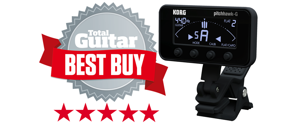 Total Guitar Magazine's Best Buy Award for the KORG PitchHawk-G